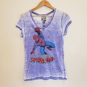 Marvel Comics The Amazing Spiderman burnout tee